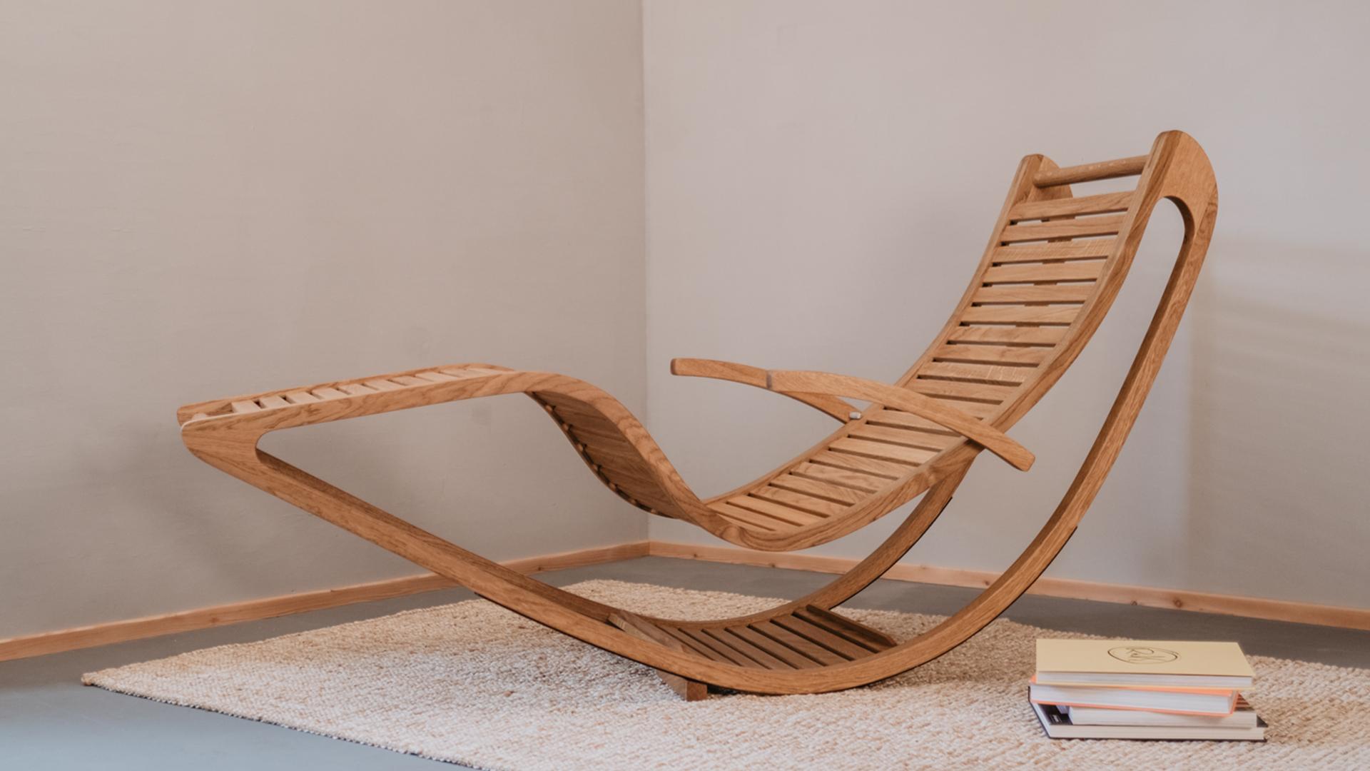 Tischlerei HolzWerk - feine moebel - Chairbert Entspannungsliege Eiche Entspannungsliege Komplett
