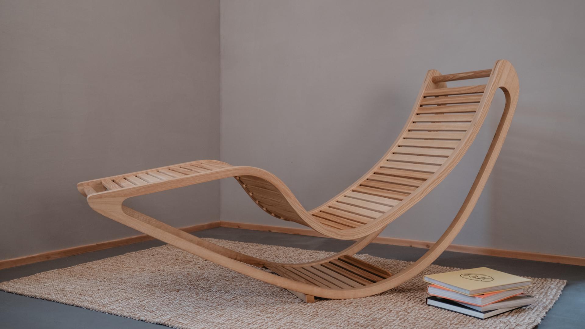 Tischlerei HolzWerk - feine moebel - Chairbert Entspannungsliege Esche Komplett