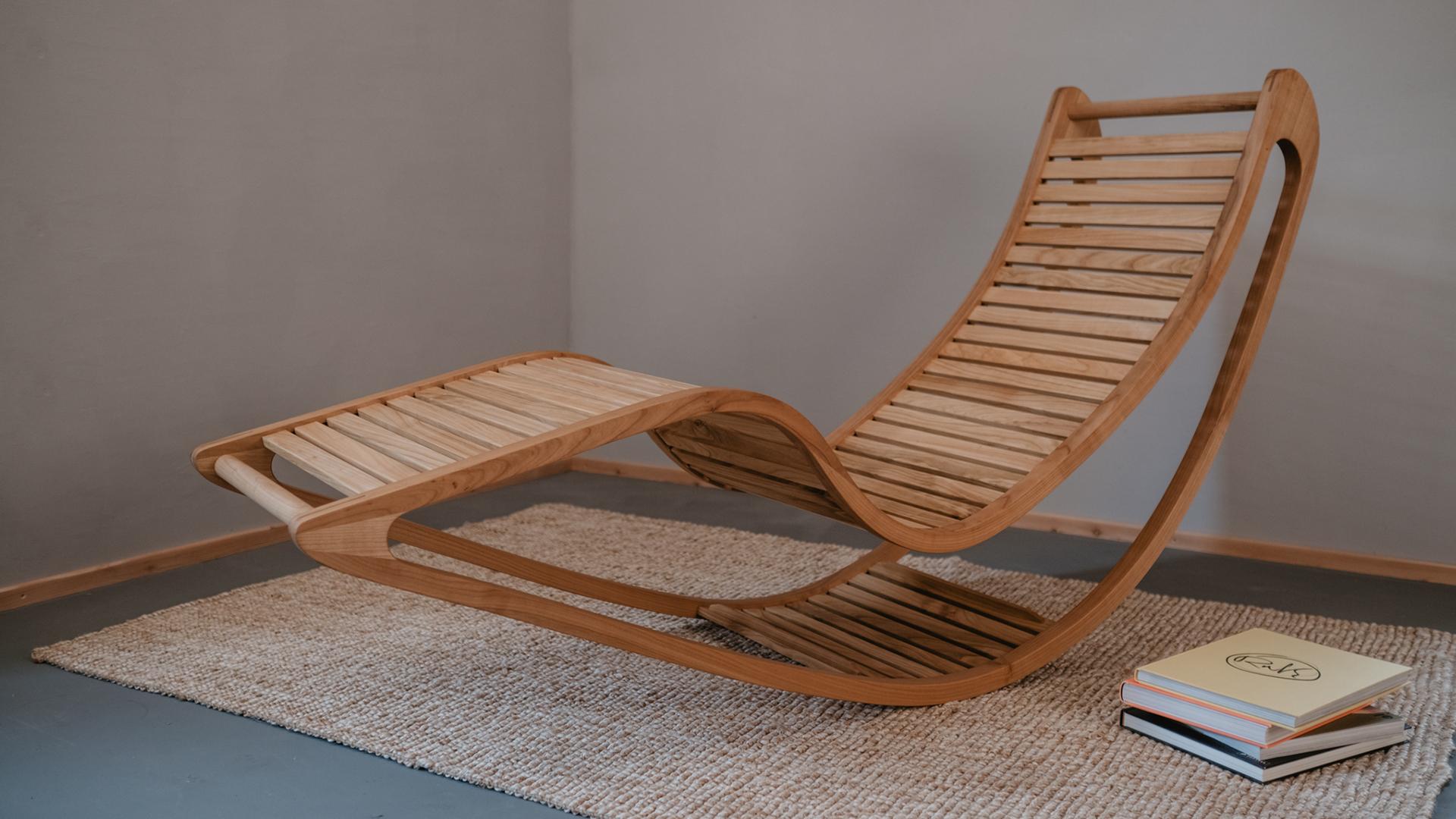Tischlerei HolzWerk - feine moebel - Chairbert Entspannungsliege Kirsche Komplett