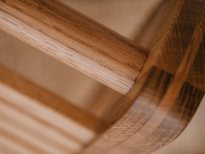 Tischlerei HolzWerk - feine moebel - Chairbert Entspannungsliege Eiche Detail